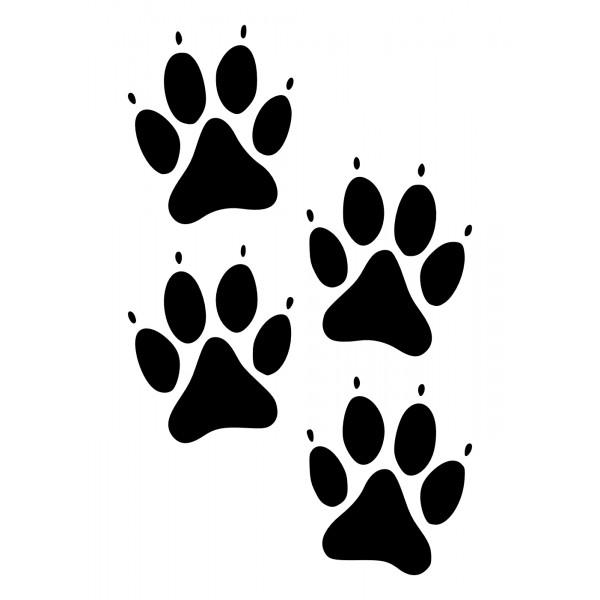 hundepfoten im set hot and cool autoaufkleber black white dog clipart black lab dog clipart
